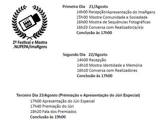 Divulgação dos Filmes e Sequências Fotográficas selecionadas para o 2º Festival e Mostra de Audiovis