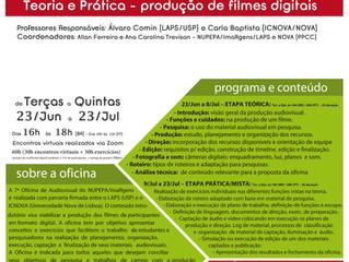Inscrições abertas para a 7ª Oficina de Audiovisal do NUPEPA/ImaRgens (LAPS/ICNOVA) - oficina especi