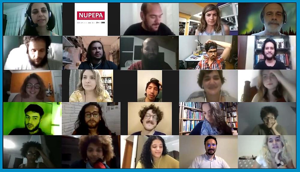 Foto de parte da equipa da 7a Oficina de Audiovisual (2020)