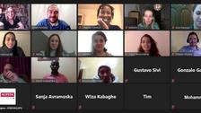 Atelier organisé en partenariat avec une université allemande avec des participants d'Afrique et du