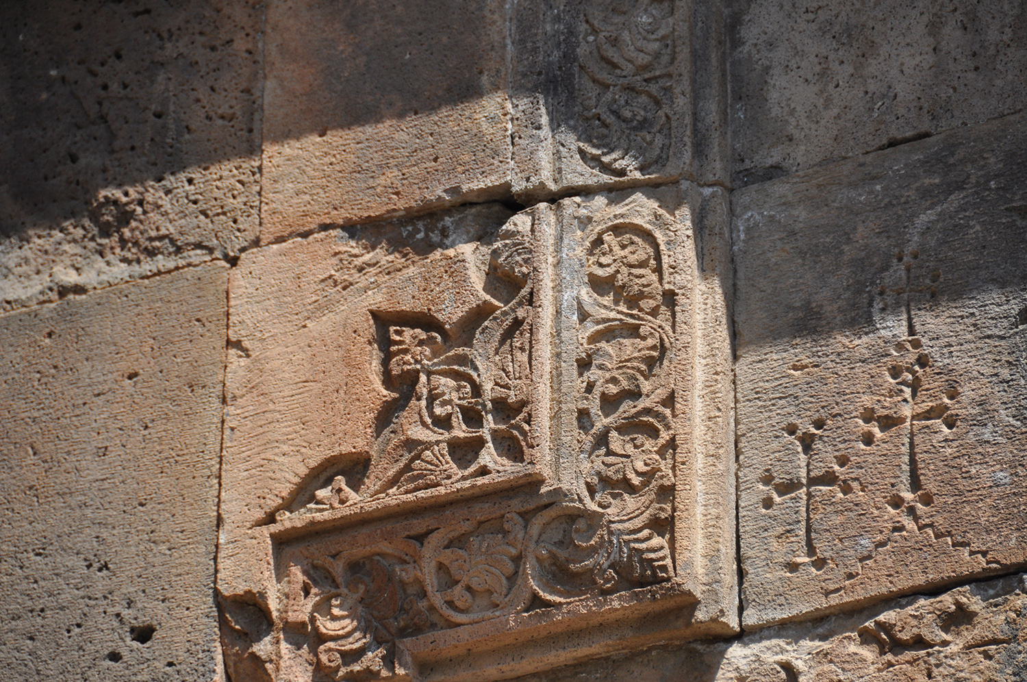 Wall carvings in Geghard monastery