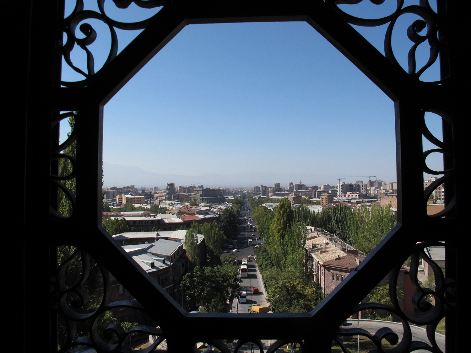 A view on Yerevan from Matenadaran