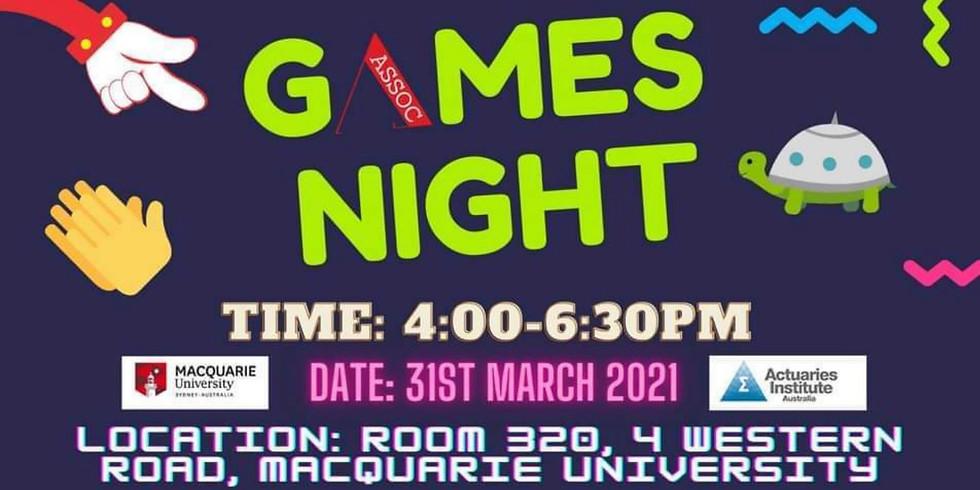 2021 Actuaries Institute x ASSOC Games Night