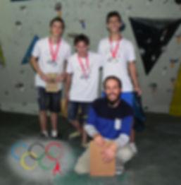 Pódio atletas masculino Juvenil