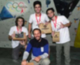 Pódio atletas Masculino Amador