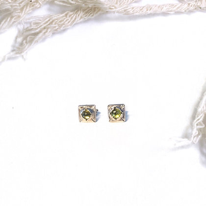 """Hathor"" Tourmaline Stud Earrings"