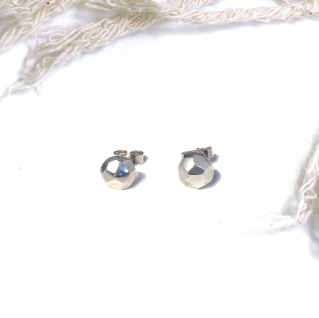 Silver Maya Stud Earrings