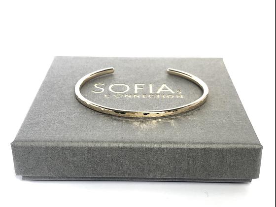 Classic Hammered Cuff Bracelet