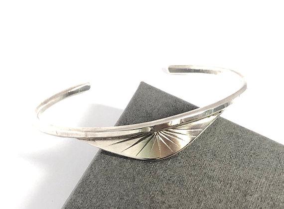 Sunrise Silver Cuff Bracelet