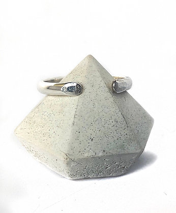 Sterling Silver Hammered Tip Open Ring
