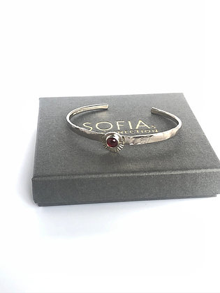 Red Garnet Cuff Bracelet