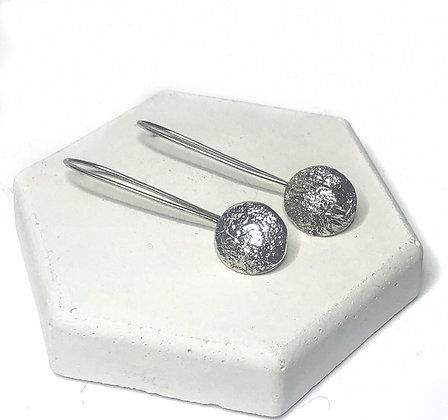 Sterling Silver Organic Drop Earrings