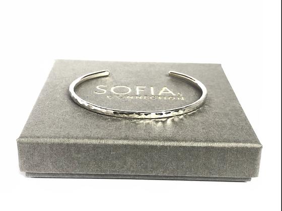 Hammered Silver Cuff Bracelet