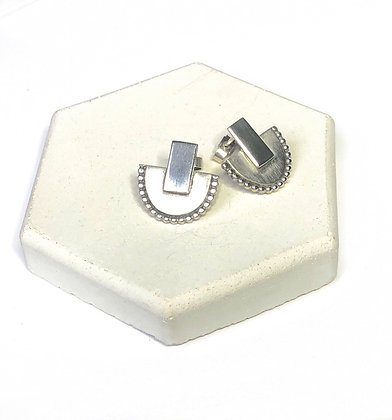 Silver Temple Studs