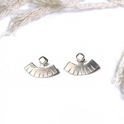 """""""Hathor"""" Silver Ear Jackets"""