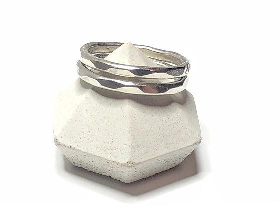 Hammered Ring Set