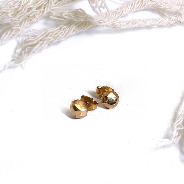 Gold Maya Stud Earrings