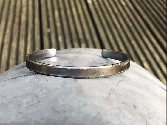 Oxidised Silver Cuff Bracelet for Men