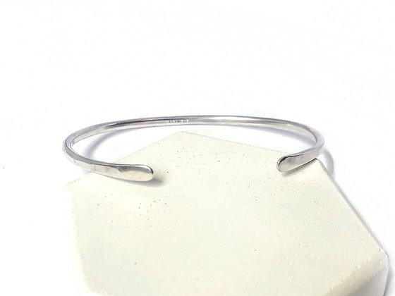 2 Point Silver Cuff Bracelet