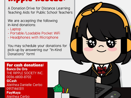 Ripple Rescue: A Donation Drive for Distance Learning Teaching Aids for Public School Teachers