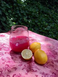Pretty Pink Lemonade With Fresh Lemons