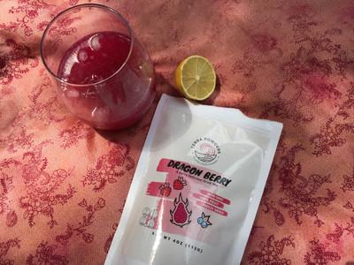 Terra Powders Dragon Berry Powder For All Natural Homemade Pink Lemonade