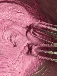Dragon Fruit Used In Frosting With Beaters