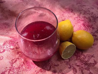 Pink Lemonade Made With Fresh Lemons And Dragon Berry Powder
