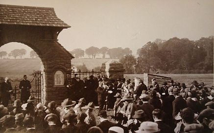 The Unveilling of Meigle War Memorial on