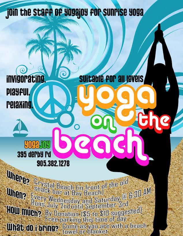 Beach Yoga is Back