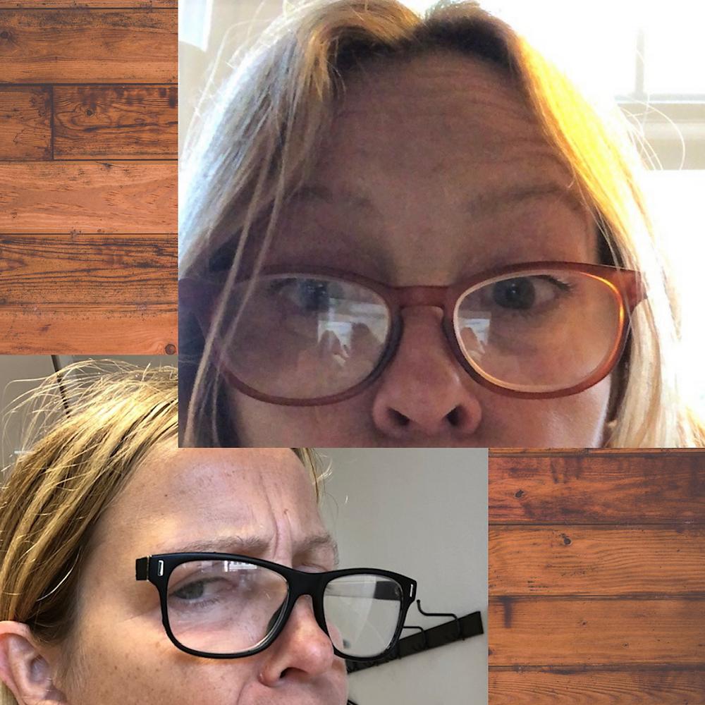 Vrouw met leesbril