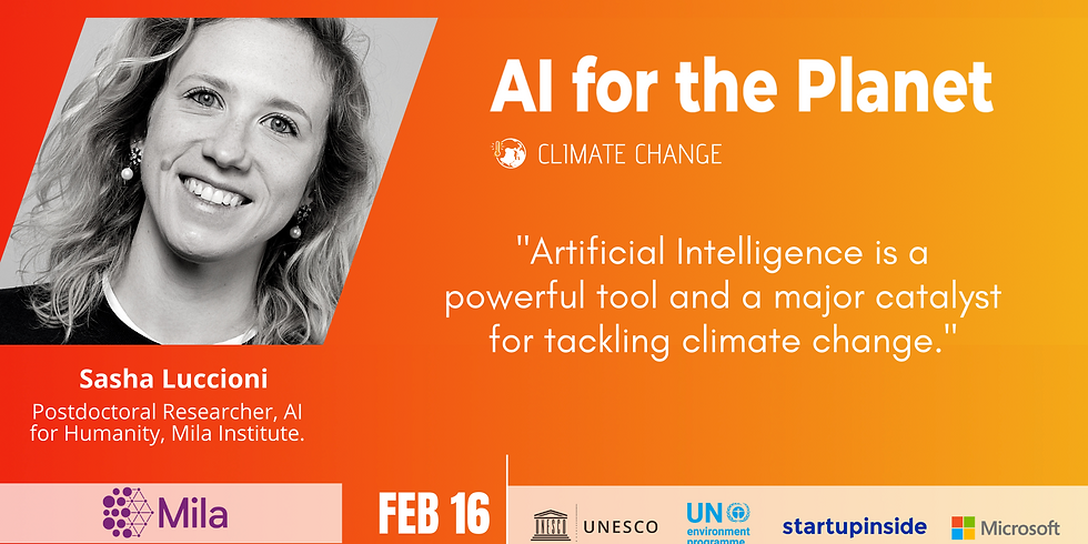 AI for the Planet: Climate change