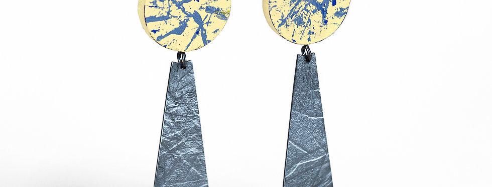 Disc Triangle Fusion Earrings