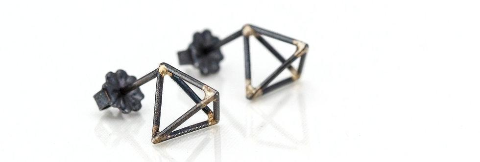 Petite Triangle Stud Earrings