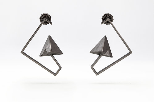 Half and Half Geometric Earrings