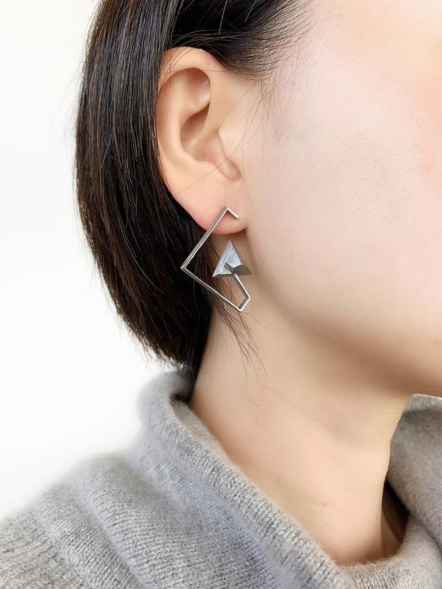 Half and Half Stud Earrings