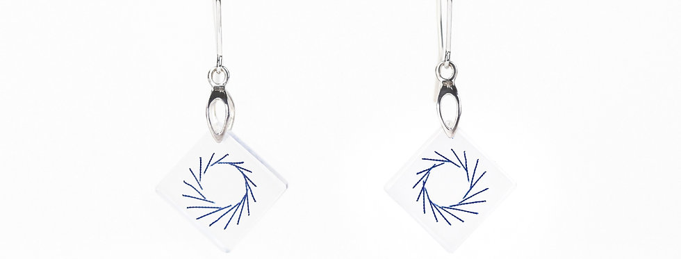 Spiral Strings in Resin Dangle Earrings