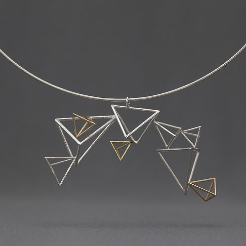 Curving Triangles Necklace