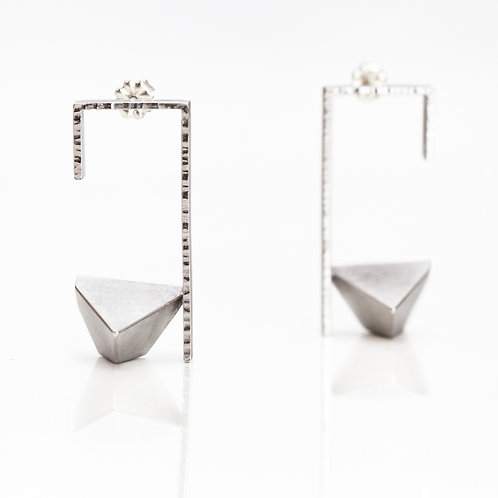 Framed Triangle Earrings