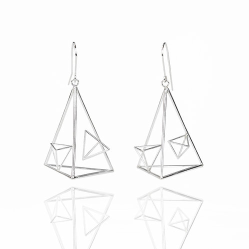 Asymmetric Triangle Dangle Earrings