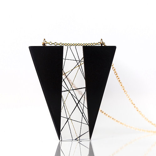 Inverted Trapezoidal Resin Necklace