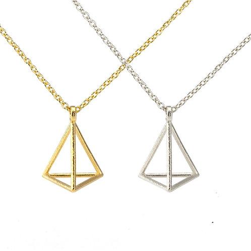 Petite Single Triangle Necklace