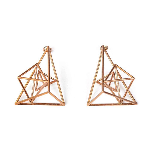 3D Triangle Statement Earrings