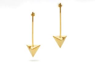 Vermeil Dangle Trianlge Earrings