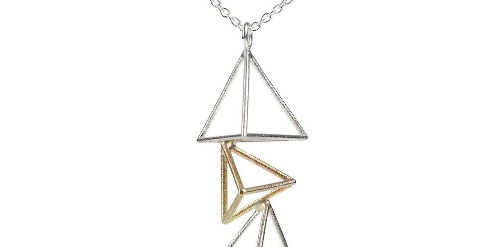 Vertical Triple Triangle Necklace