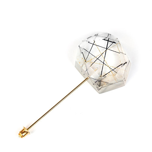 Faceted Resin Stick Pin