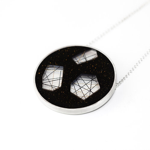 Large Disc Resin Necklace