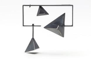 Framed Triangles Brooch II