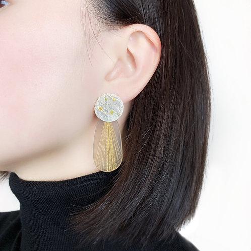 Oval Resin Statement Earrings
