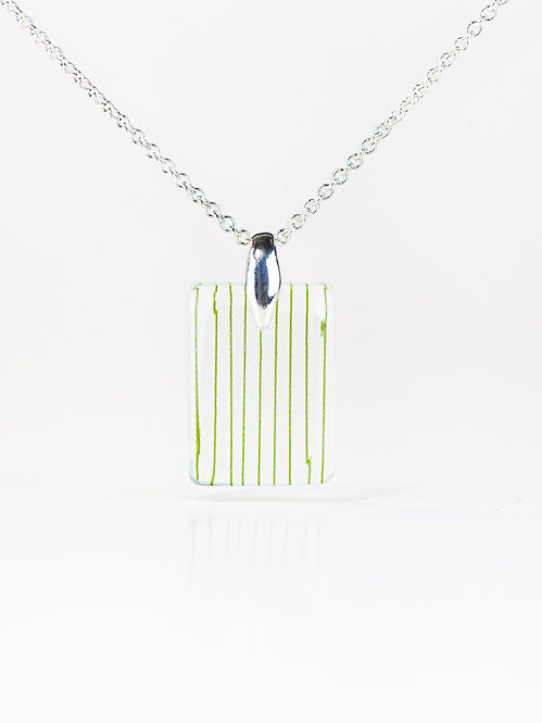 String in Faceted Resin Necklace